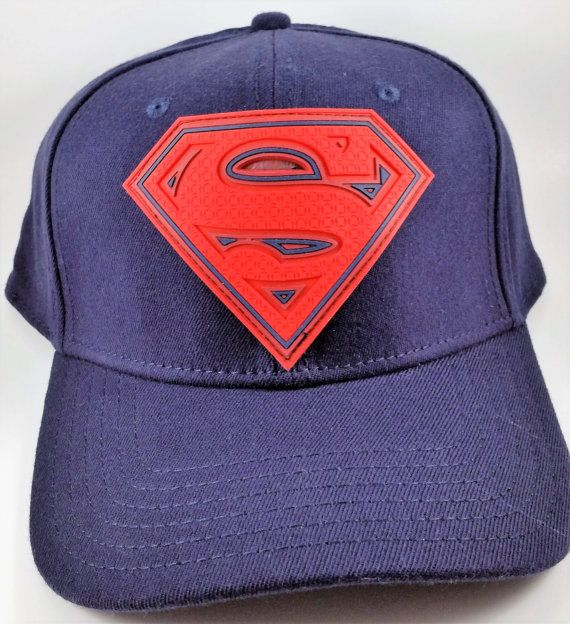 44e03b3304151 Superman Baseball Hat Cap DC Comics Flexfit Navy Blue   Red ...