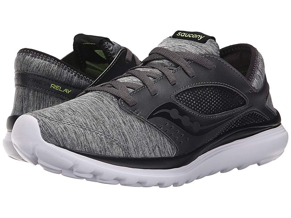 564e22190f40 Saucony Kineta Relay (Heather Black) Men s Running Shoes. Whether your look  is