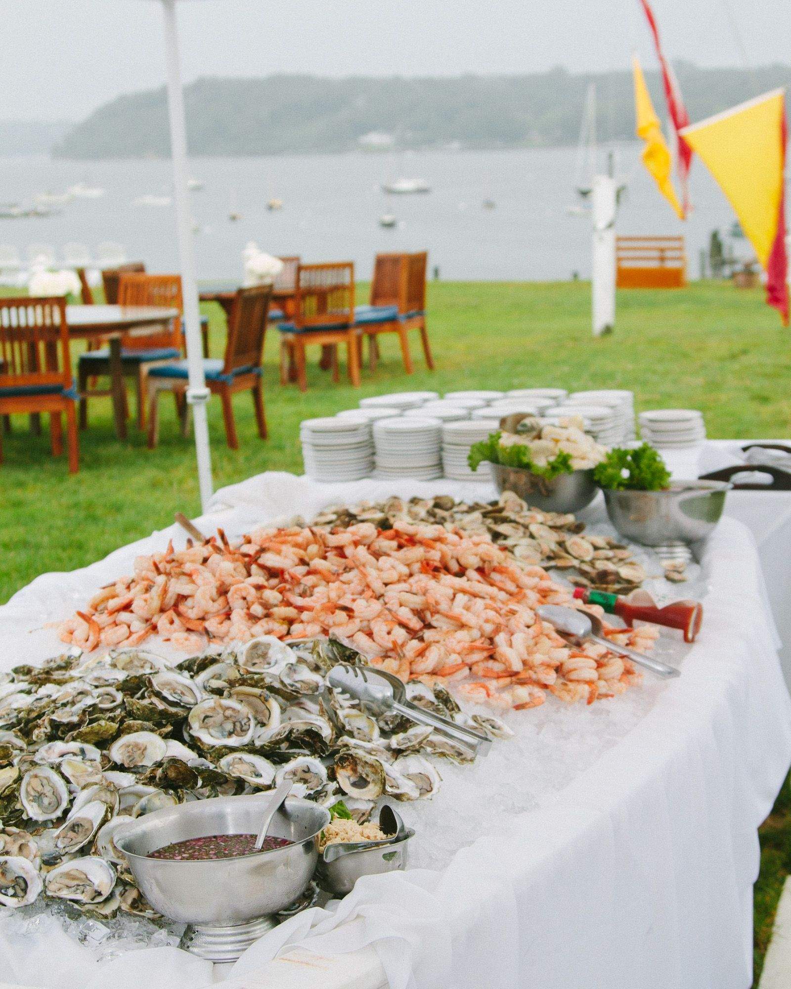 Best Food For Wedding Buffet: Hamptons Wedding, Teal Blue And