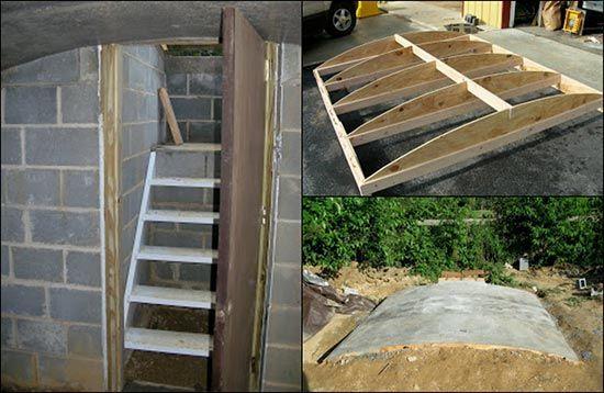 How-to-Build-An-Underground-Root-Cellarjpg (550×358) sobrevivir - wasserwand selber bauen garten