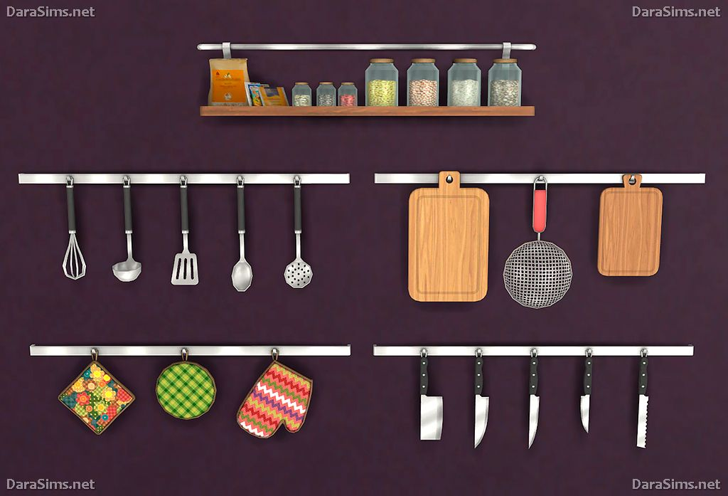 Lana CC Finds - Kitchen Decor Set [The Sims 4] by Dara Sims