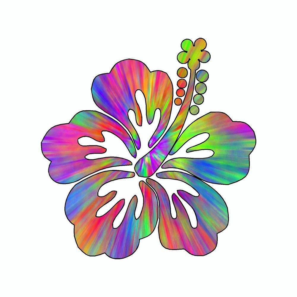 Hibiscus Flower Tie Dye Vinyl Car Sticker Tie Dye Vinyl Flower Tie Vinyl Car Stickers [ 999 x 1000 Pixel ]