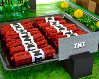 SALE Minecraft Party Decor TNT Wraps DigitalPrintable File - Minecraft spiele mit tnt