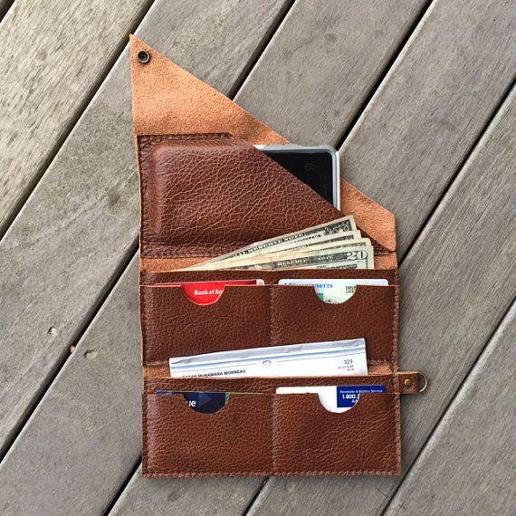 Leather Wrap Wallet van smacdesigns op Etsy