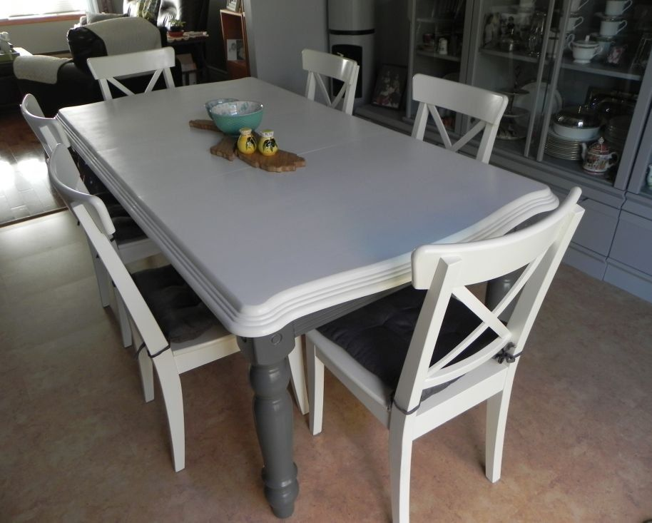 Renewing A Second Hand Kitchen Table With Paint Kitchen Table