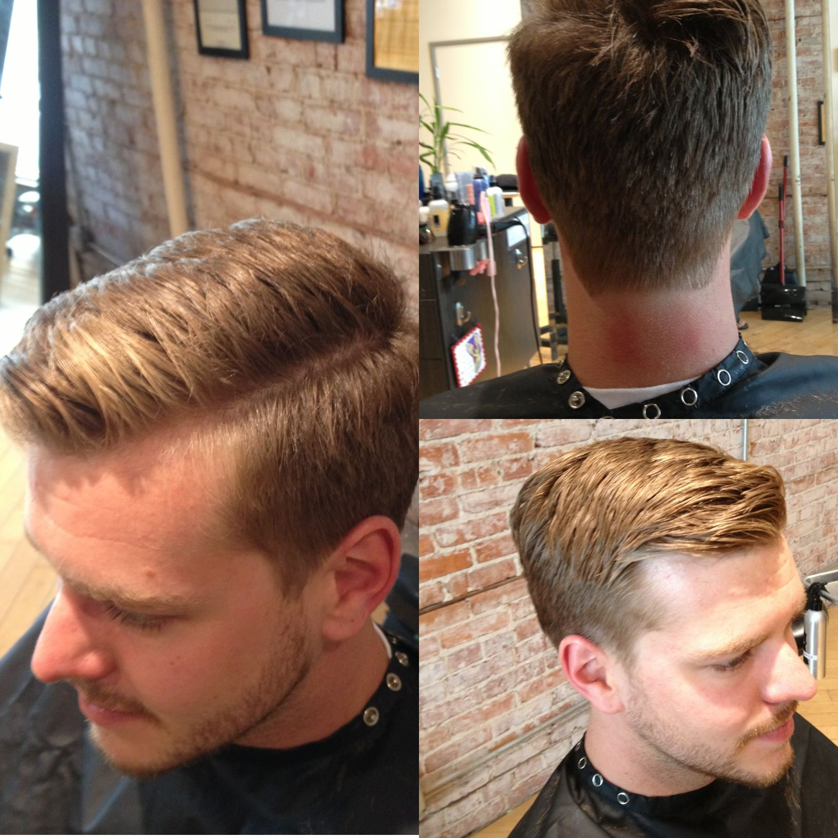 Mens haircut line barbering skill carved part line  hir  pinterest  man hair