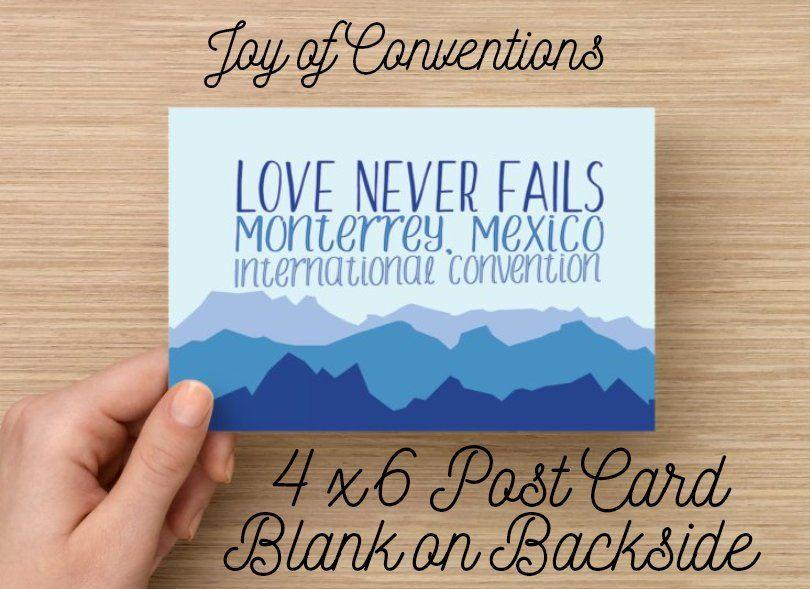 2019 love never fails international convention gifts postcards – Artofit