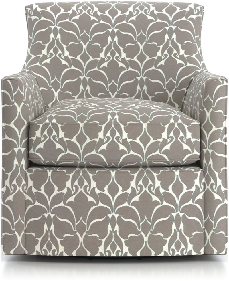 Shop Clara Swivel Accent Chair With Its Tight Back Frame And Plump Seat Cushion The Chair Is Postured For A More Upri Swivel Accent Chair Accent Chairs Chair