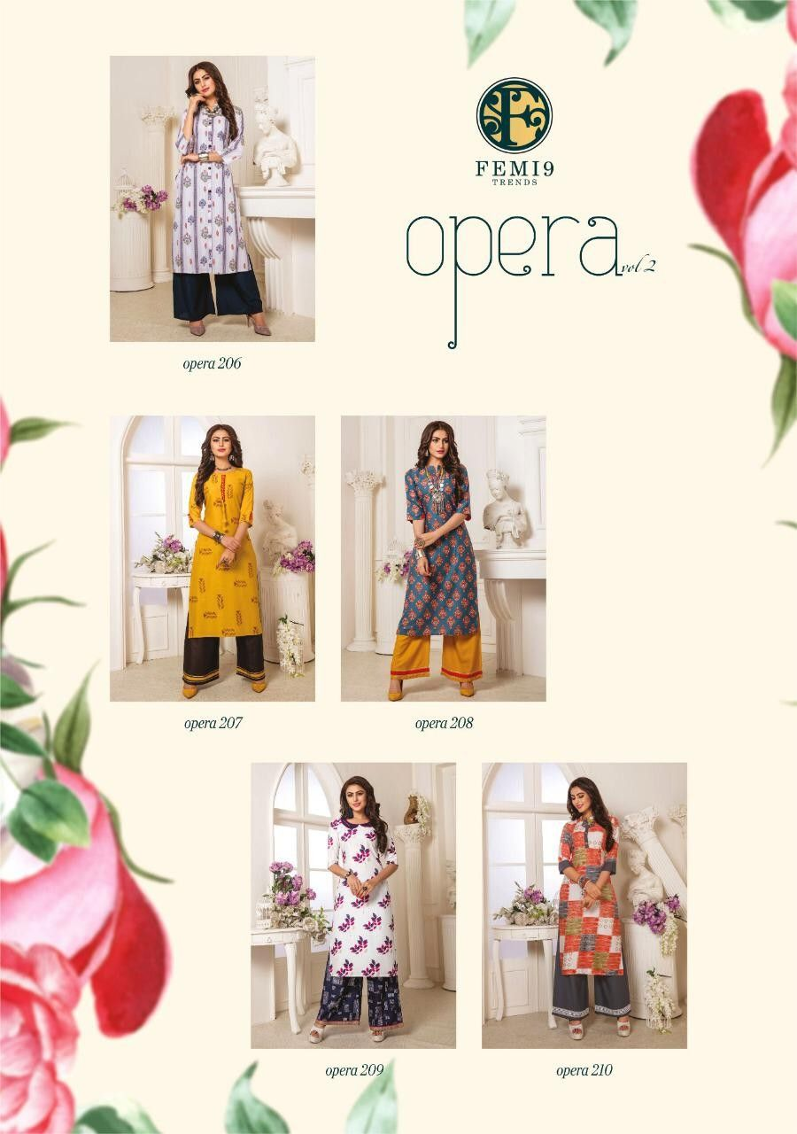 Order Femi 9 Kurtis 1060 On Whatsapp Number 919619659727 Or Artistryc In Western Dresses Trending Kurti Collection