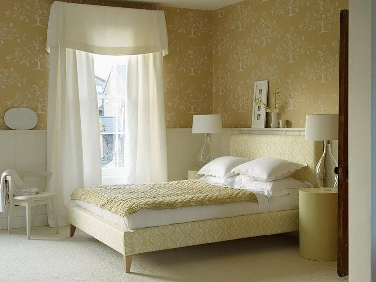 Designer Bedroom Colors Simple Simple Elegant Flowing Panels With Valance  Drapery With 2018