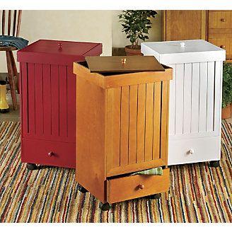 Rolling Trash Bins Diy Storage Containers Food Storage