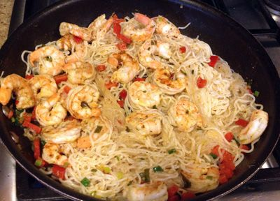 spicy shrimp shirataki noodles stay thin recipes pinterest shirataki rezepte essen und. Black Bedroom Furniture Sets. Home Design Ideas