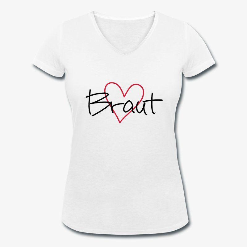 von SHIRT DEPARTMENT JGA T-Shirts Damen V-Neck Ladies Night Herzen