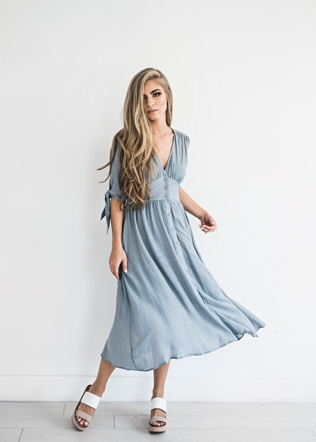 ea55f1936a1 Lucerne Wind Button-Down Dress