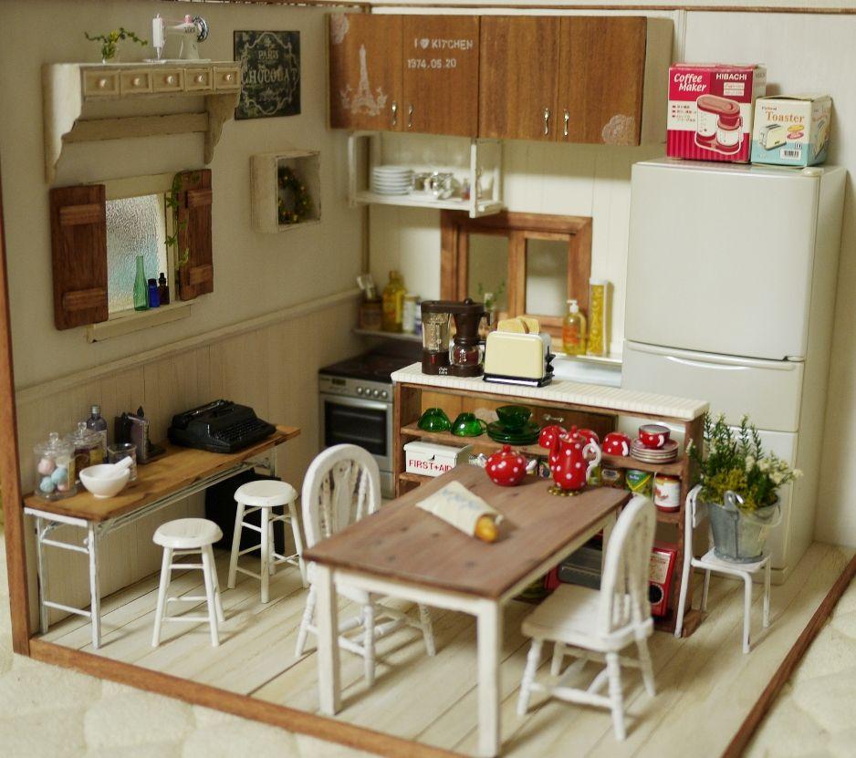 225 Best The Miniature Kitchen Images On Pinterest: Mini Kitchen Room Box