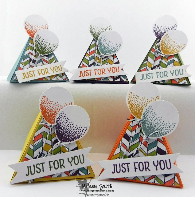 2014 In Colors Stampin Up: Stampin' UP! Pyramid Pal Fun! 3D Project Using Retiring IN