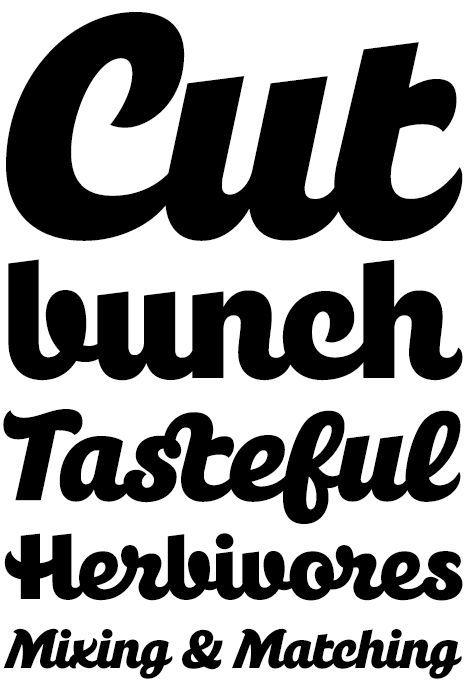 A Bold Single Weight Font By Hubert Jocham Germany Script Typedesign