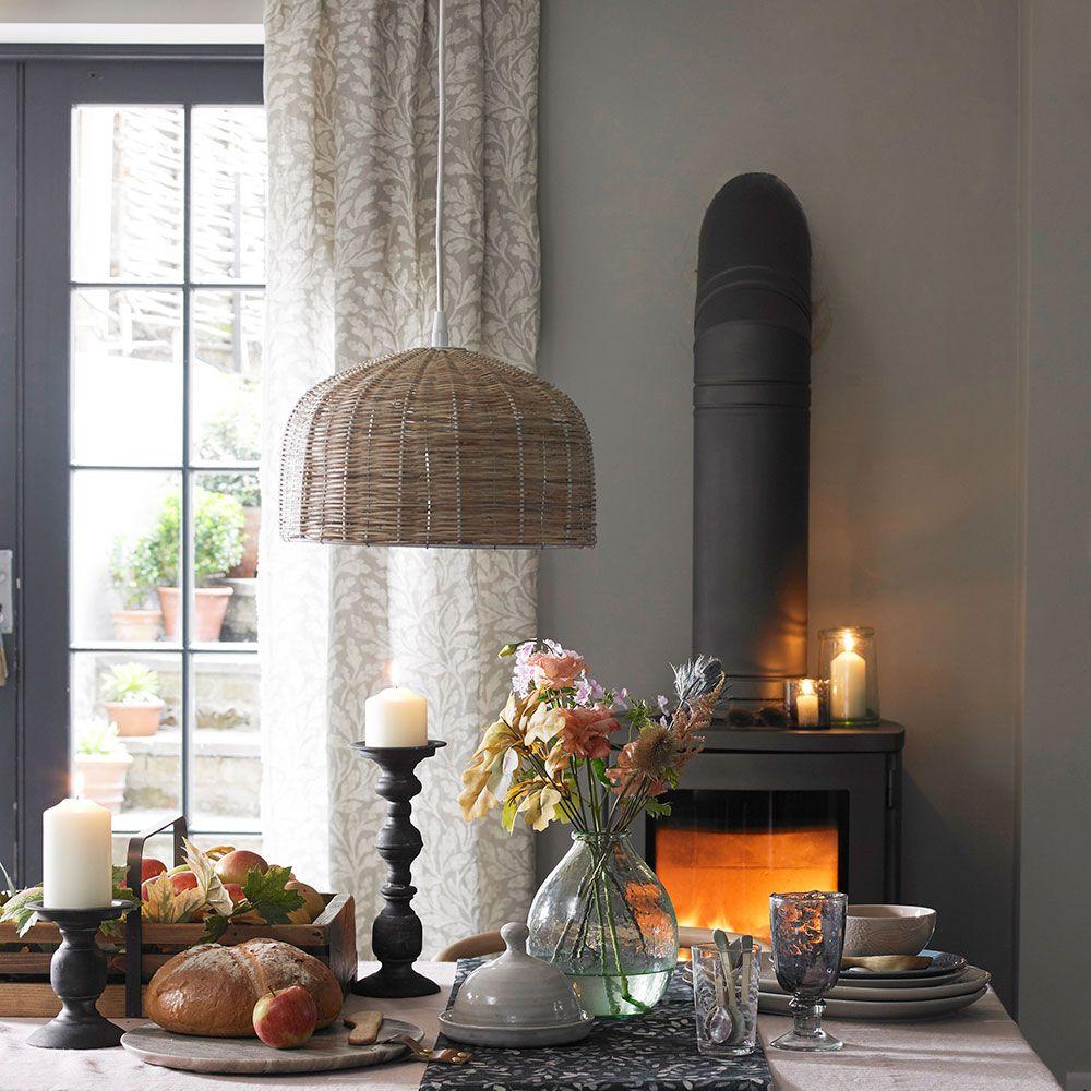 Dining room curtain ideas - on-trend and elegant looks for ... on Farmhouse Dining Room Curtain Ideas  id=93311