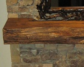 Rustic Fireplace Mantels, Hand Hewn Shelves