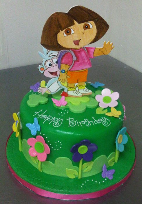 Cake Designs Dora The Explorer : Dora the Explorer cake Party ideas Pinterest Cake ...