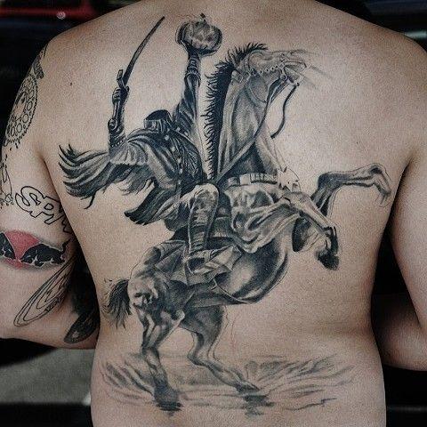 Trent Valleau Headless Horseman Tattoo By Trent Valleau Tattoos Headless Horseman Art Tattoo