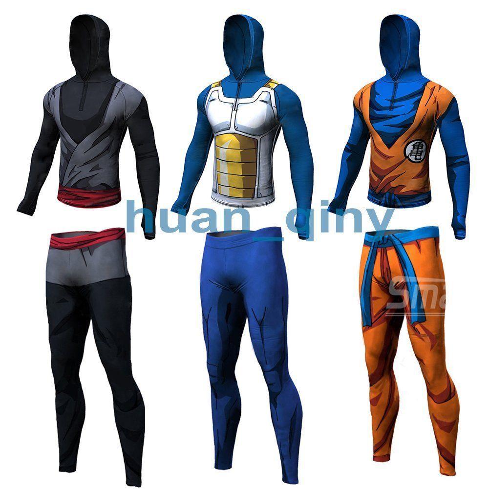 5924cac4b Men 3D Dragon Ball Hoodie Long Sleeve T-Shirt Cycling Sports Gym Cosplay  Costume