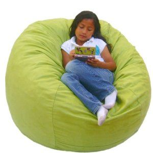 Fabulous 3 Feet Lime Cozy Sac Bean Bag Chair Love Seat By The Cozy Ncnpc Chair Design For Home Ncnpcorg