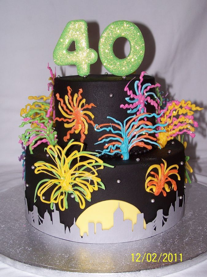Fireworks Birthday Cake Cakes Beautiful Cakes For The Occasions