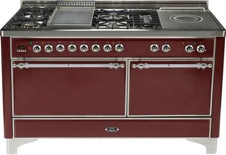 Umc150fsdmpmy 60 Majestic Series Dual Fuel Range With 5 Sealed Burners French Top Griddle Bronze Trim 2 Ovens Rotisserie And Continuous Ca Products Oven