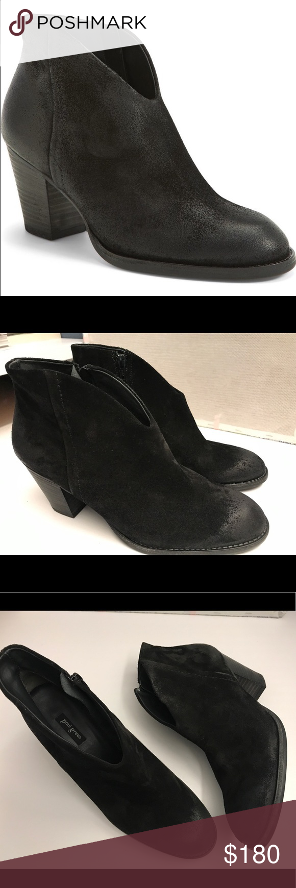 """BNIB Paul Green Delgado Black Booties BNIB. Purchased them but never worn since they are too big for me. •Size AU 6.5, US 9. •2 1/4"""" heel •4 1/4 shaft •side zip closure •leather upper and lining/textured rubber sole •made in Austria. Super comfy!!! Paul Green Shoes Ankle Boots & Booties"""