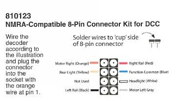 Image result for nmra dcc 8 pin plug | nmra dcc 8 pin plug or socket