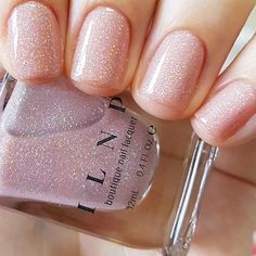 Sandy Baby - Peach Beige Holographic Sheer Jelly Nail Polish by ILNP