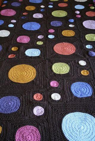 Iris\'s circles to squares afghan | Häkeln, Handarbeiten und ...