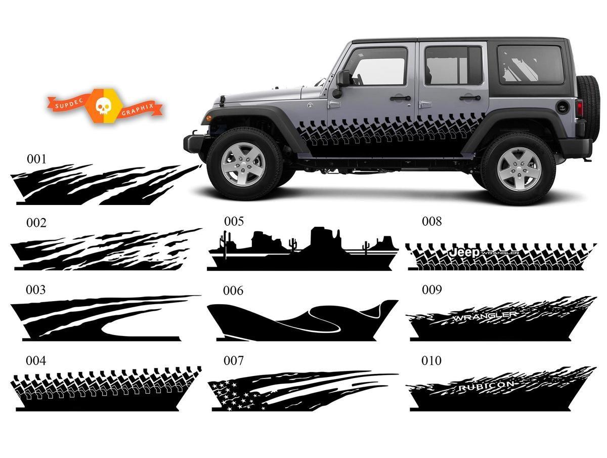 Product Jeep Decal Sticker Splash Side Rocker Door Graphics 07 17 Wrangler Jk 4 Door In 2020 Jeep Wrangler Accessories Wrangler Accessories Jeep Accessories