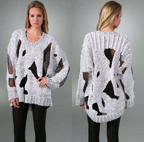 Alexander Wang Baggy Long Sleeve Sweater - nitrolicious.com | Knit ...