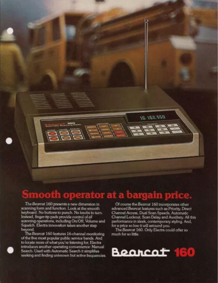 Bearcat 160 Police Fire Ems Scanner 1page Brochure 1981 Police Radio Scanner Radio