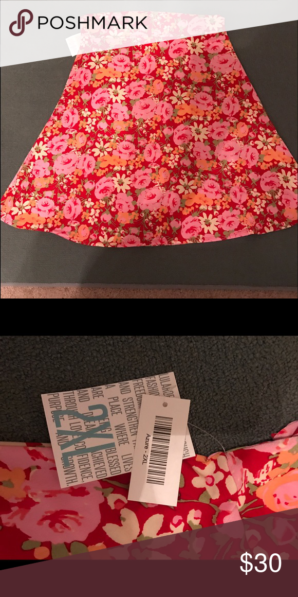 NWT Lularoe Azure 2XL Never worn. Silky material and so flowy! LuLaRoe Skirts A-Line or Full
