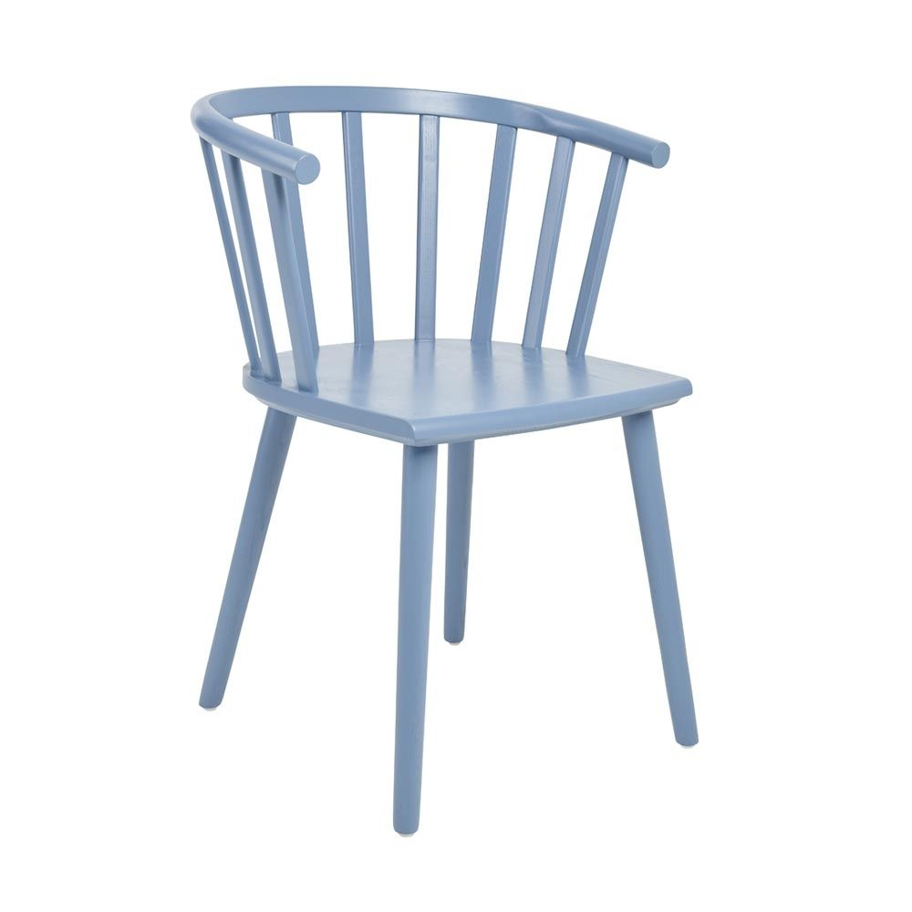 Nimes Beech Wood Dining Chair Blue Dwell