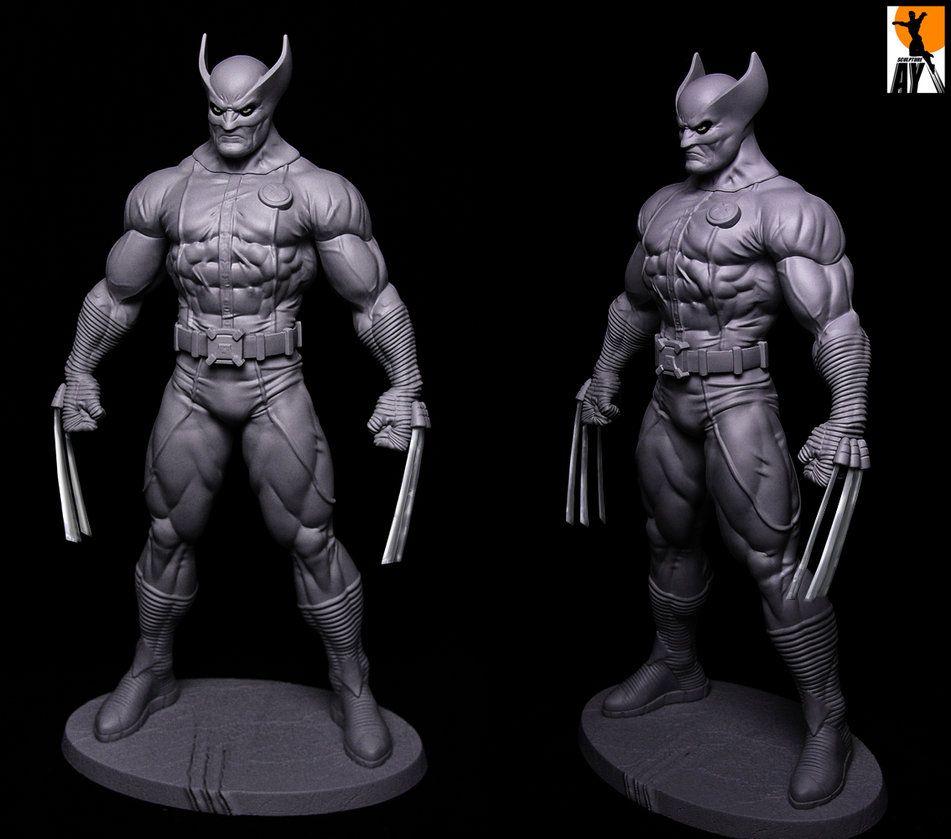 Http Aysculpture Deviantart Com Art Wolverine Heroic Age