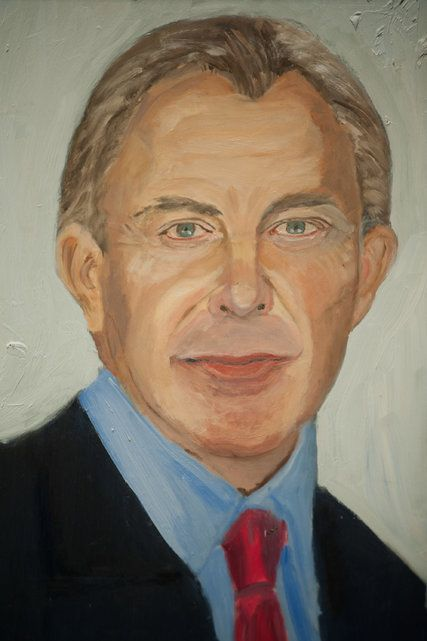 An Ex President Brush In Hand Captures His Fellow Leaders Portrait Artist Painting People
