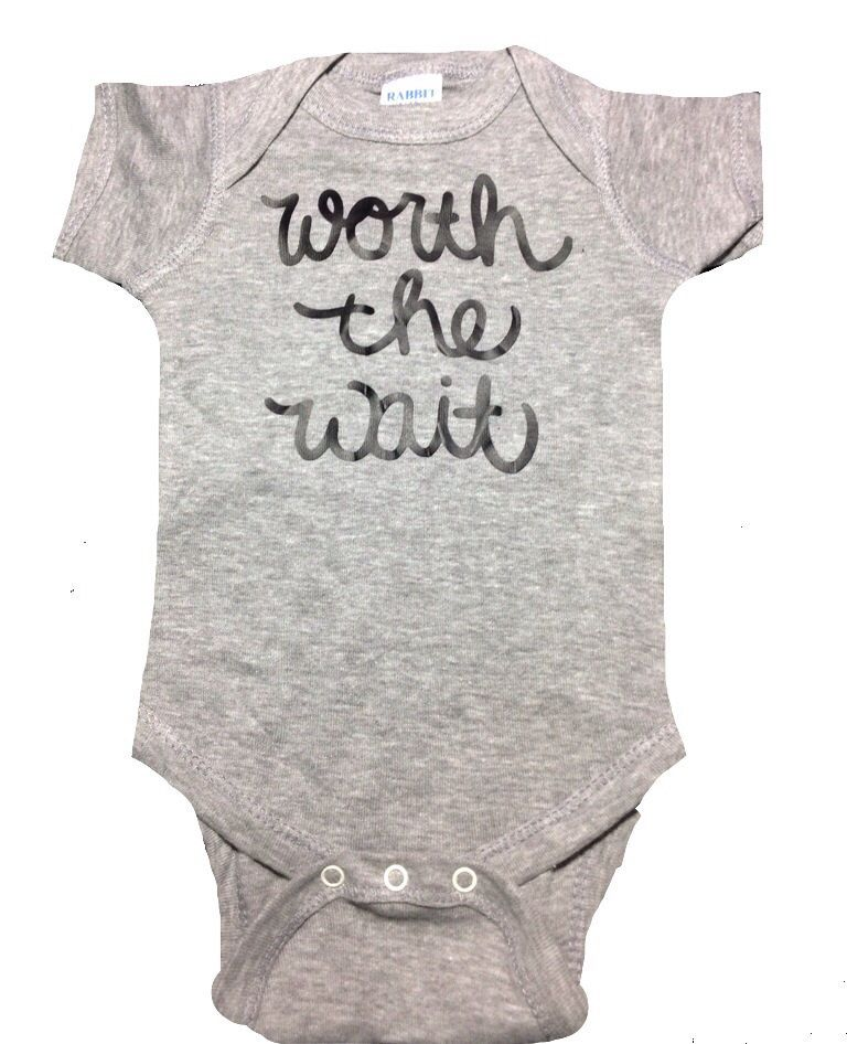 Worth the wait new baby onesie newborn going home outfit