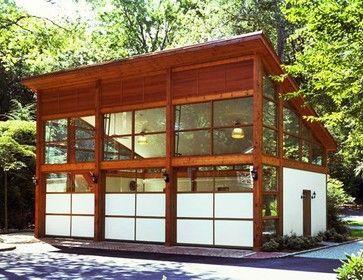Mid Century Modern Garage Workshop Modern Garage Doors Modern Garage Garage Design
