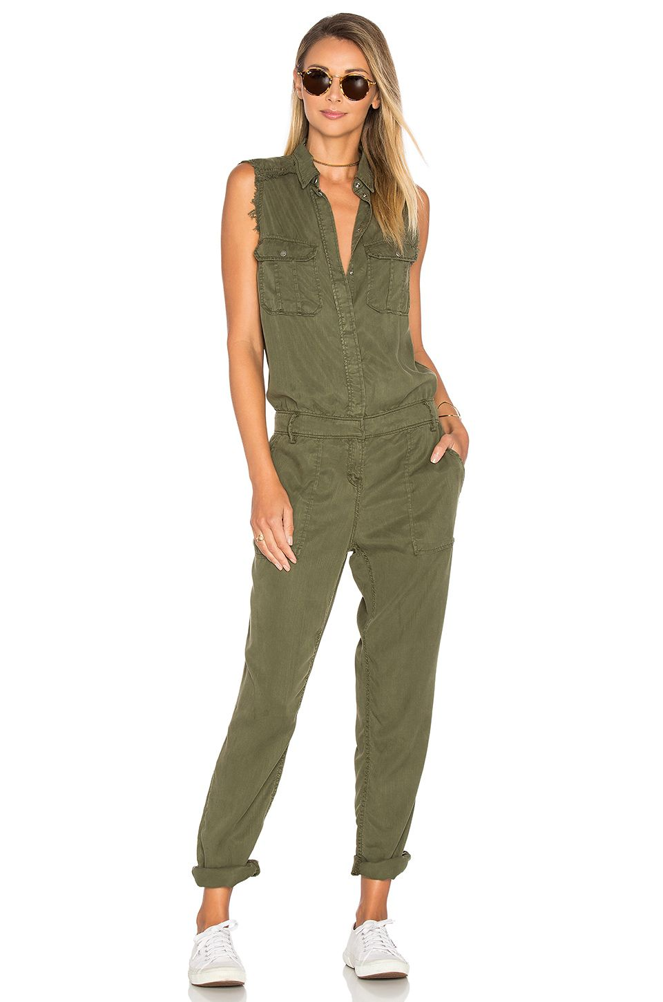 3b928b2a0f77 Etienne Marcel Sleeveless Jumpsuit in Military