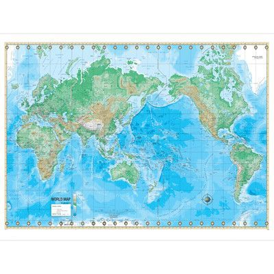 universal map advanced physical world laminated rolled map on laminated wall maps id=18746