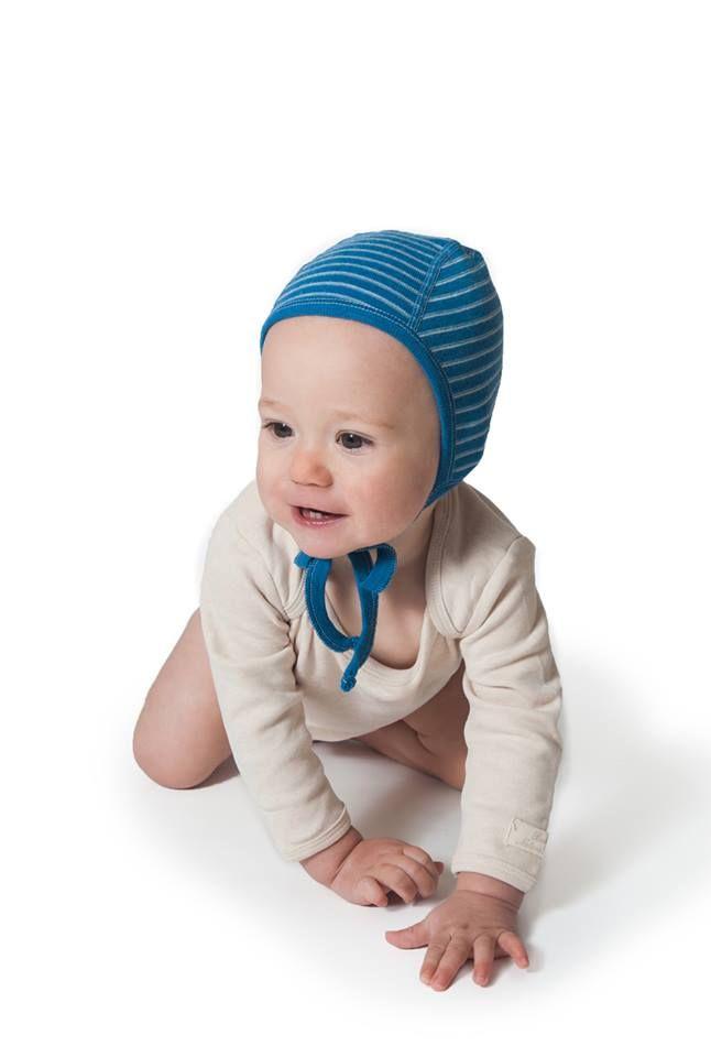 6f7d699430b Hocosa Pilot-Style Baby Cap in Organice Merino Wool.