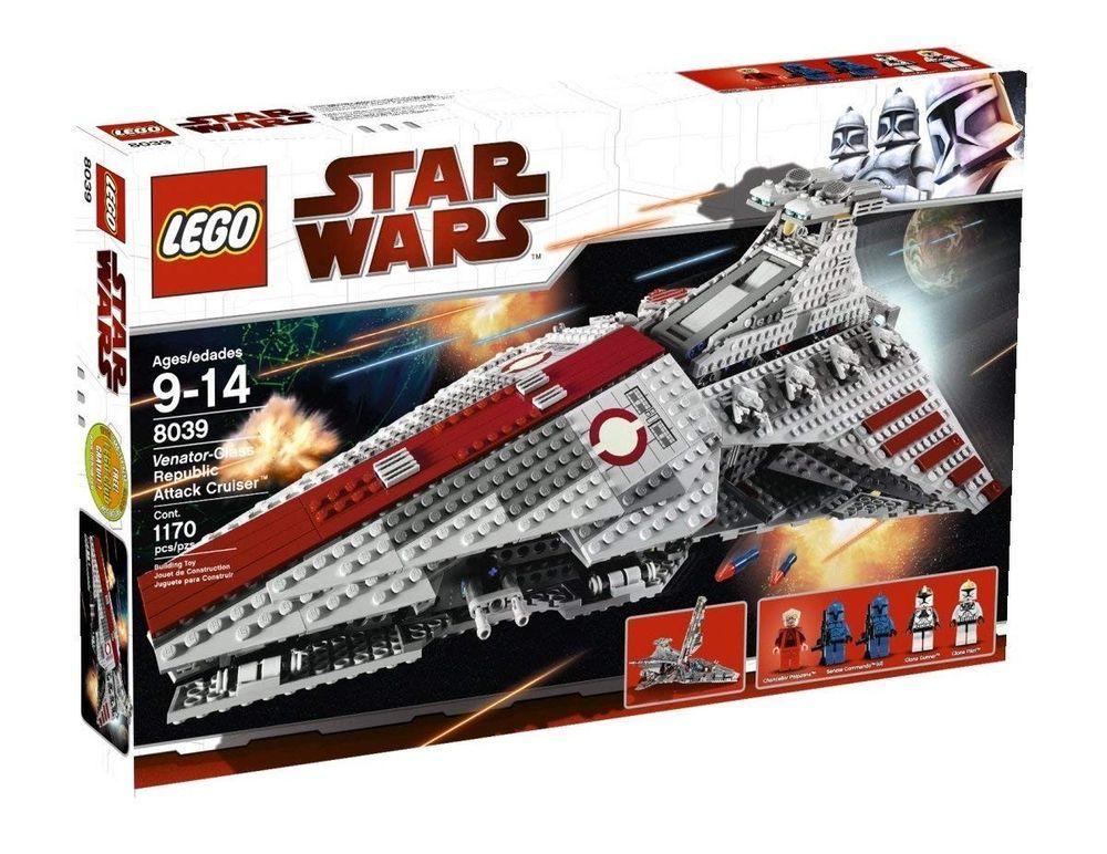 New In Sealed Box Lego 8039 Star Wars Venator Class Republic Attack Cruiser Star Wars Set Lego Star Wars Lego Star