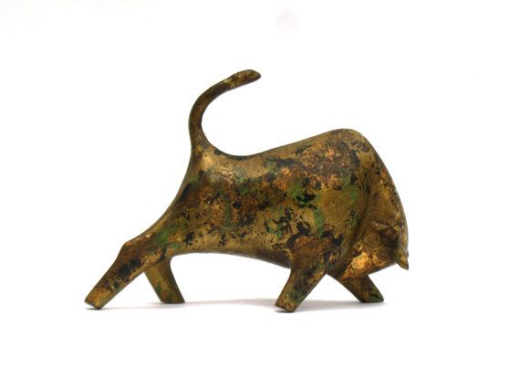 Célèbre midcentury modern Italian bull sculpture by rdeanlee on Etsy  VG65