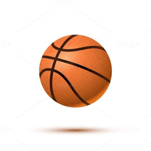 Realistic Basketball Ball On White Basketball Ball Basketball Plays Basketball