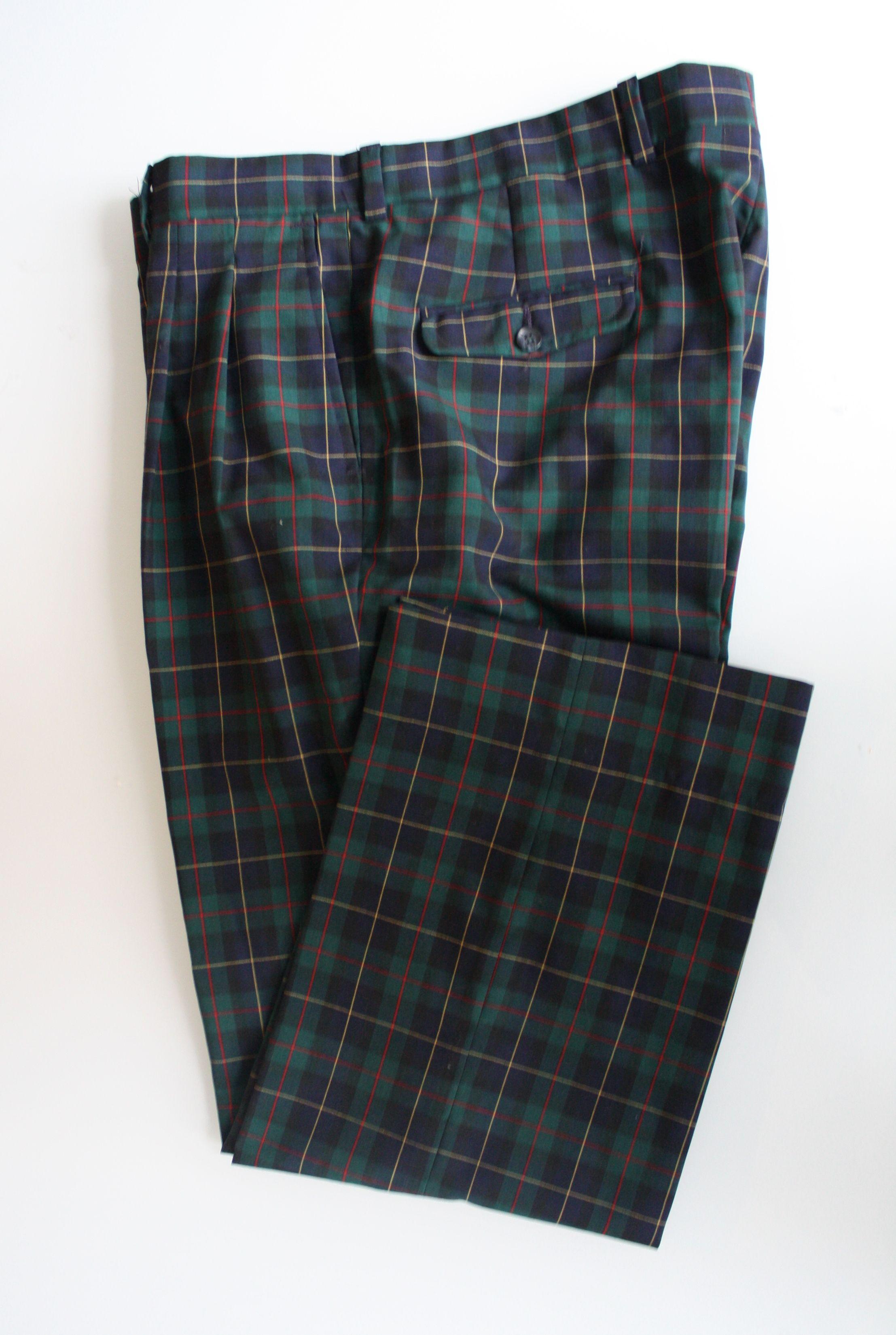 Vintage Pendleton Black Watch Tartan Pants In