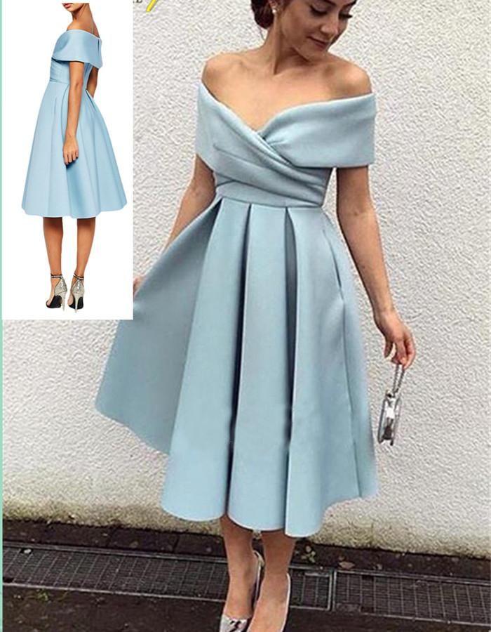 Satin Short Formal Dresses